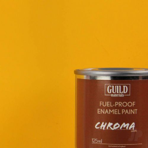 Guild Materials Matt Cub Yellow Enamel Fuel-Proof Paint  (125ml Tin) GLDCHR6302